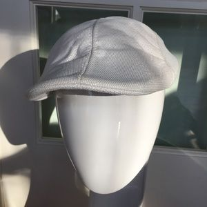 NEW linen golf newsboy sun cool summer hat white